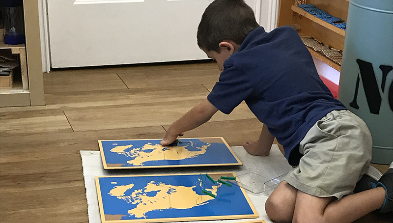 Self-correction and self-assessment are an integral part of the Montessori classroom approach
